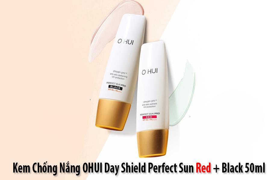 Hình ảnh cặp đôi sản phẩm Ohui Black + Red SPF50+ PA+++