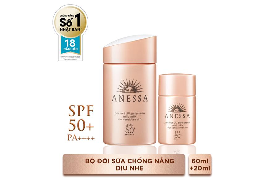 Anessa Perfect UV Sunscreen Mild Milk là dòng sản phẩm tuyệt vời cho da dầu