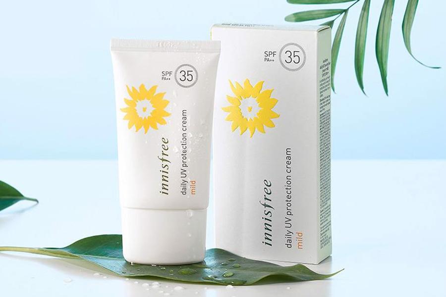 Innisfree Daily UV Protection Cream Mild SPF35 PA++ 50ml thích hợp dùng hàng ngày
