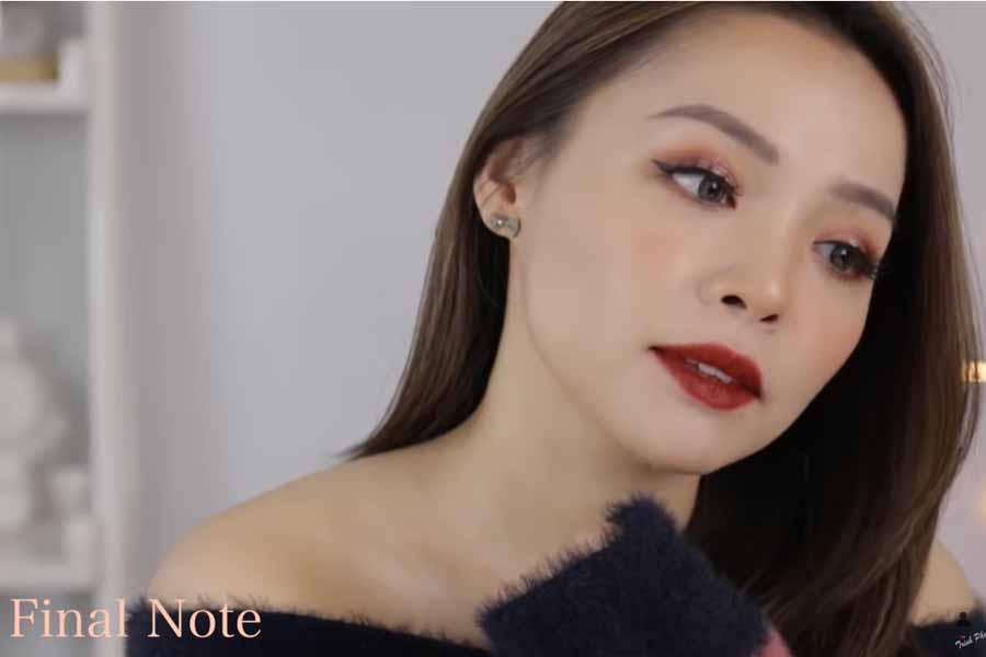 Beauty Blogger Trinh Pham chia sẻ rằng mình phù hợp với màu son 25