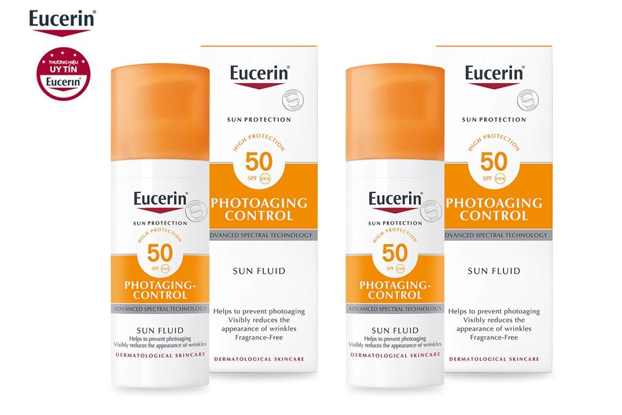 Kem Chống Nắng Eucerin Photoaging Control Sun Fluid phù hợp cho da nhạy cảm