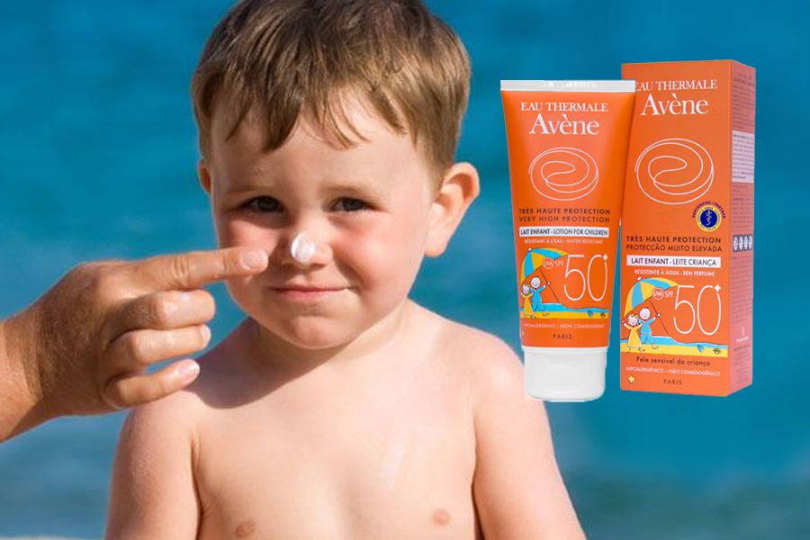 Dòng kem chống nắng cho trẻ em