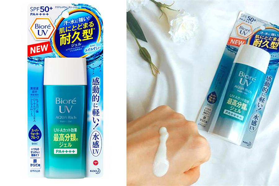 Kem chống nắng Biore UV Aqua Rich Watery Gel là sản phẩm không màu hoàn hảo cho nam