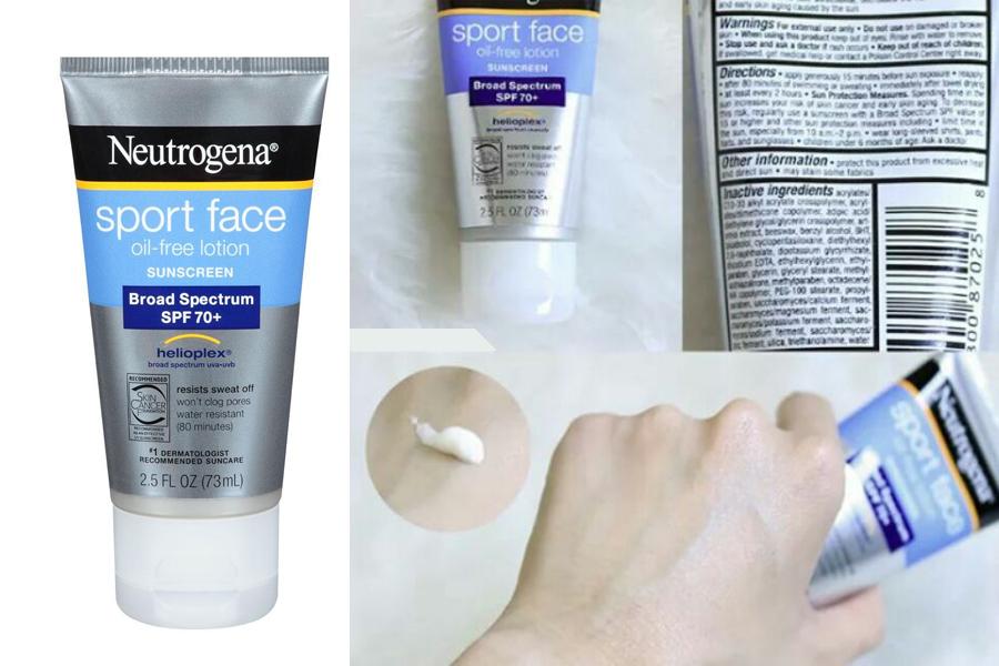 Kem chống nắng Neutrogena Sport Face-Oil vô cùng thích hợp dành cho da mụn