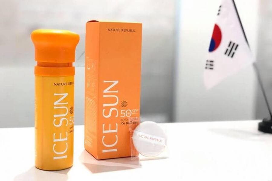 Kem chống nắng Ice Sun là sản phẩm của thương hiệu Nature Republic - Hàn Quốc