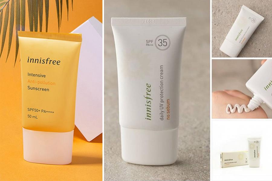 Kem chống nắng Innisfree là thương hiệu mỹ phẩm nổi tiếng từ Hàn Quốc