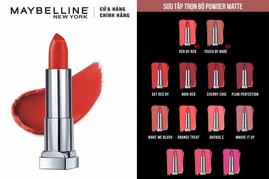 Son MAYBELLINE Color Sensational Powder Matte Lipstick