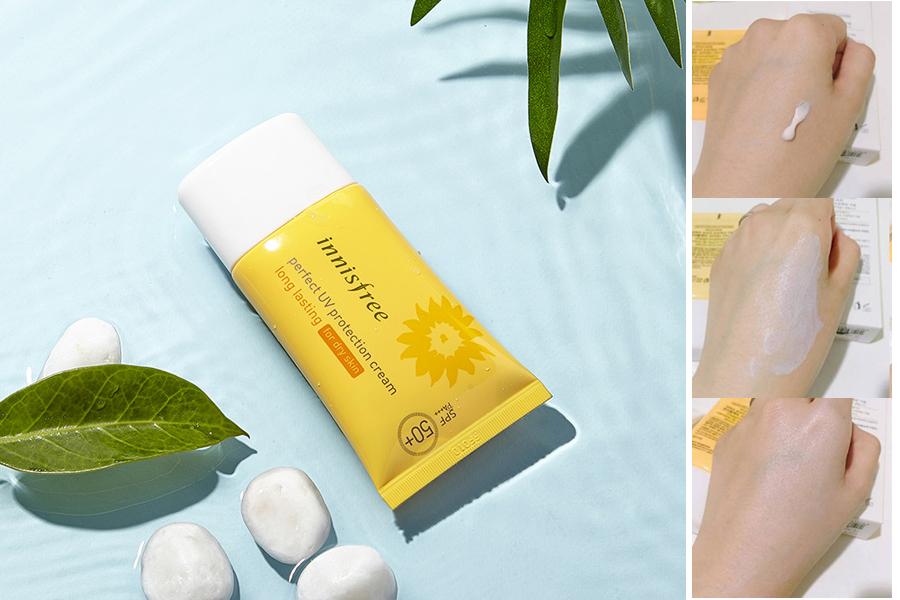 Không lo ngại về da dầu mụn khi có Innisfree Perfect UV Protection Cream Long Lasting For Oily Skin