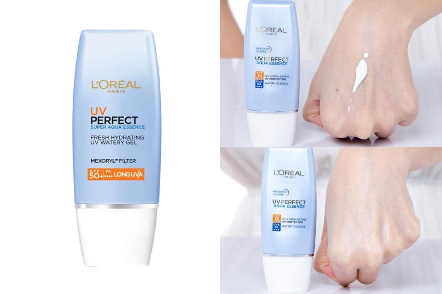 L'oreal Paris UV Perfect Aqua Essence SPF50+ PA++++ giúp lên tone da