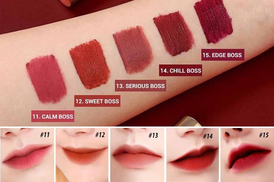 Bảng màu Bbia Last Velvet Lip Tint Version 3