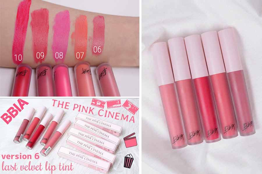 Bảng màu son Bbia Last Velvet Lip Tint Version 6