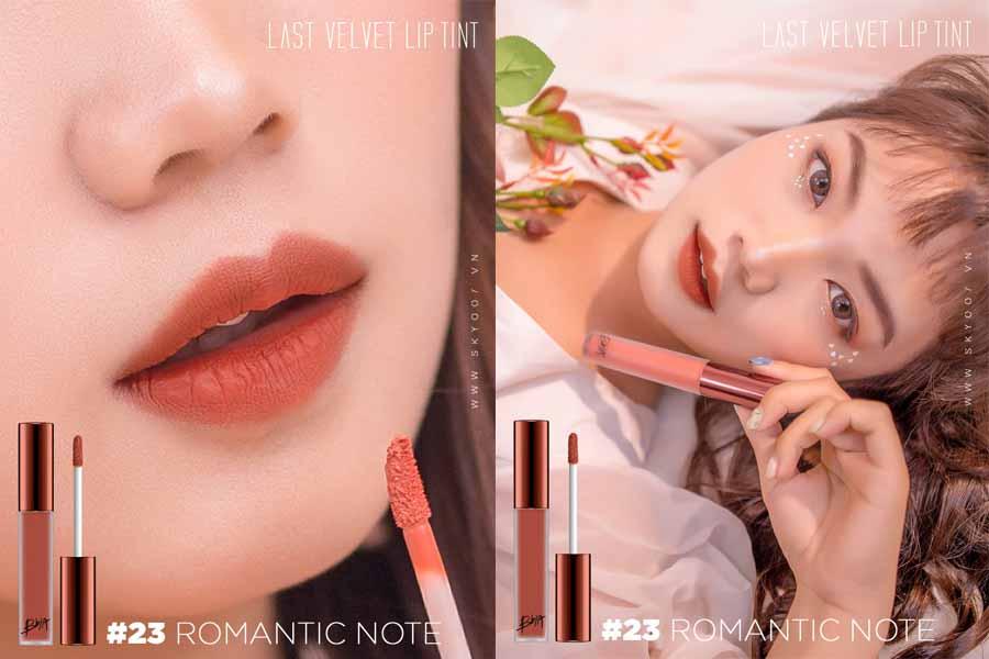 Bbia Last Velvet Lip Tint – #23 Romantic Note tạo nên cơn sốt trong giới mộ điệu