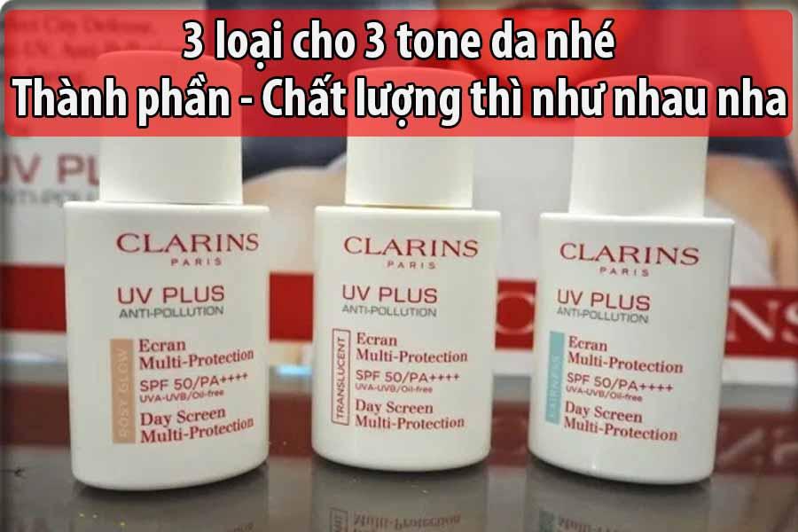 Kem chống nắng cho da dầu mụn Clarins