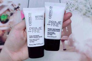 Nếu bạn có một làn da dầu và lỗ chân lông to thì dùng kem lót Catrice Prime And Fine Primer Pore Refining rất phù hợp