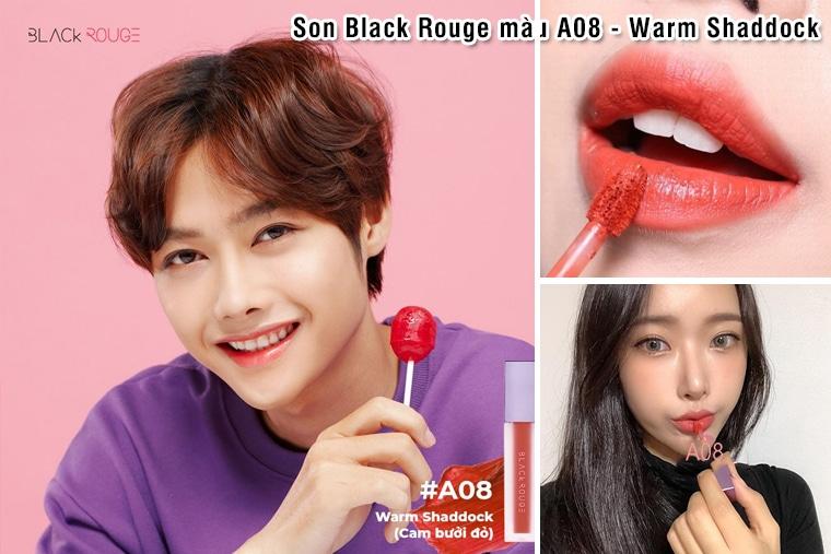 Son Black Rouge màu A08 - Warm Shaddock